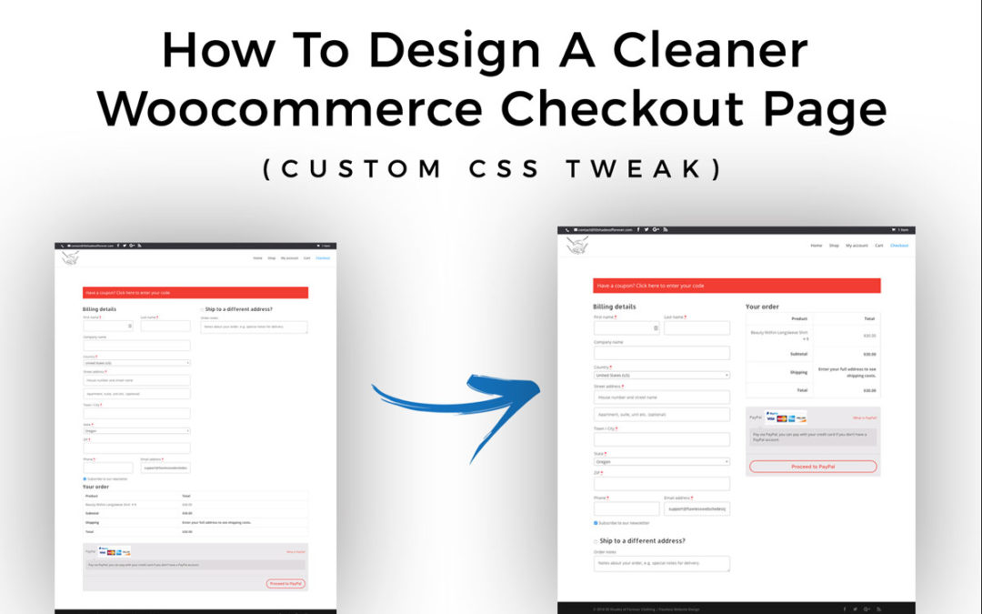 How To Design A Cleaner Woocommerce Checkout Page