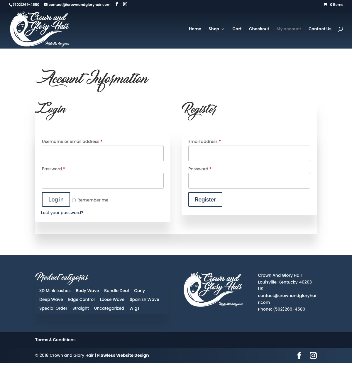 Crown & Glory Hair Extensions Website Design