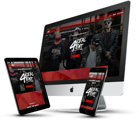 4Real Ent Website Design