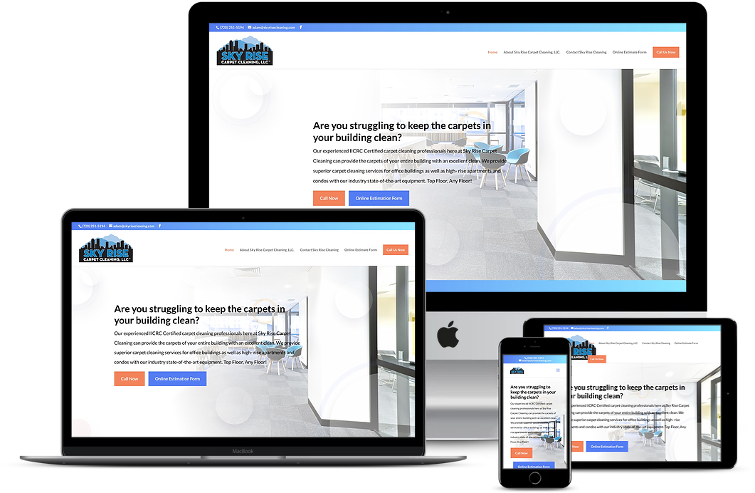 Sky Rise Carpet Cleaning Website Design