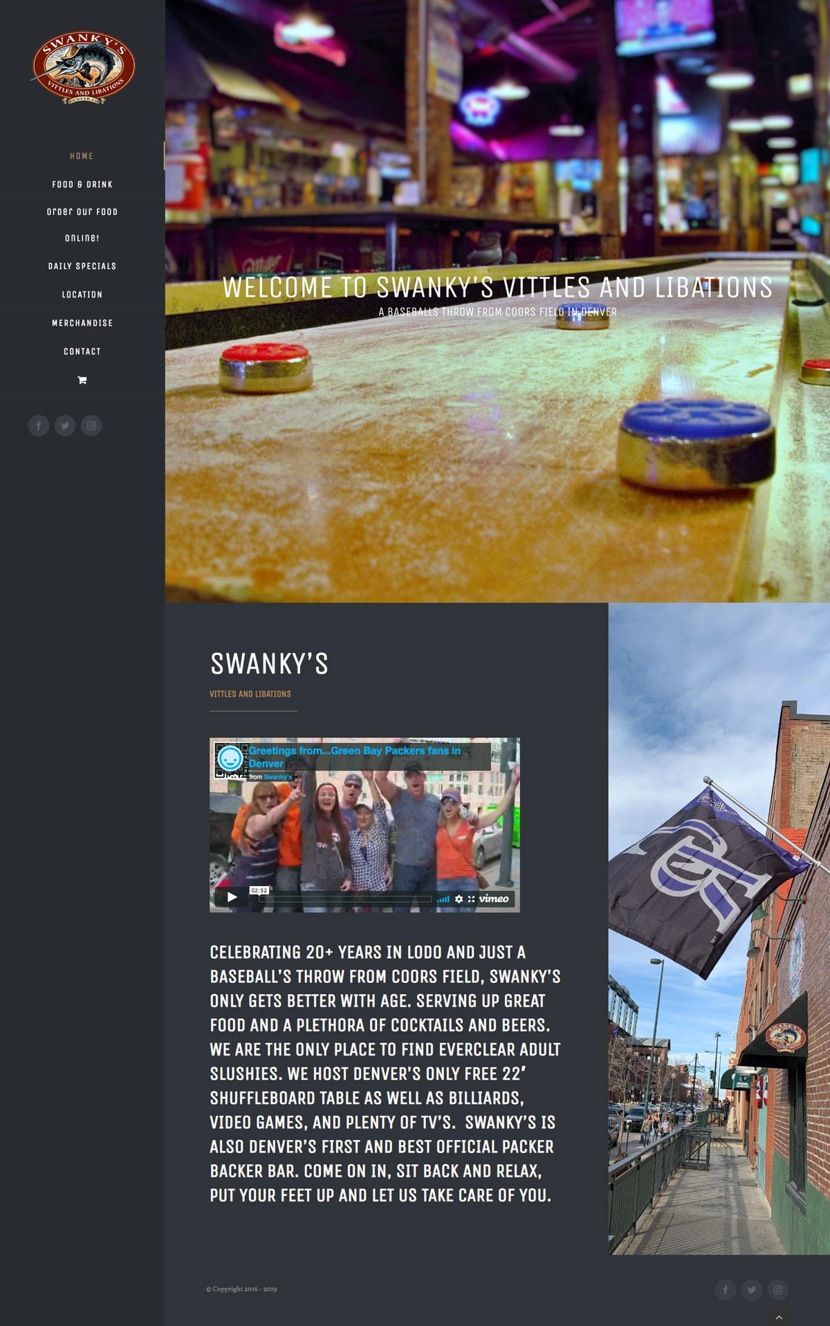 Swankys Website Maintenance